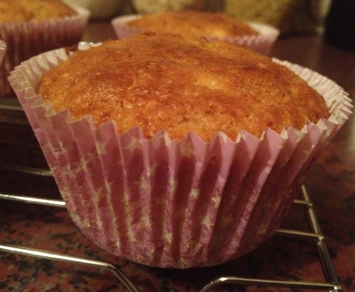 Buttermilk banana muffins