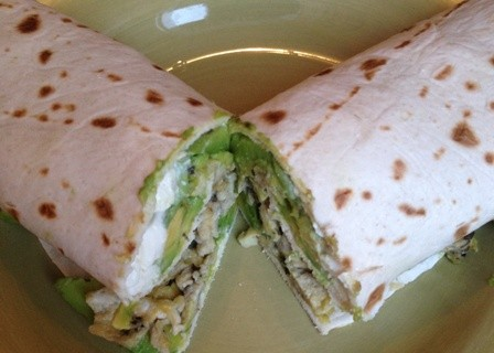 avocado and egg tortilla
