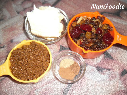ingredients fuit cake