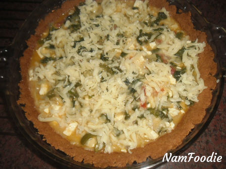 bake spinach feta quiche