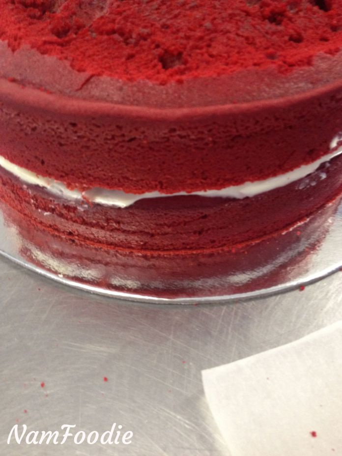 Red velvet cake layers