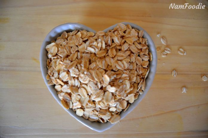 Homemade granola oats