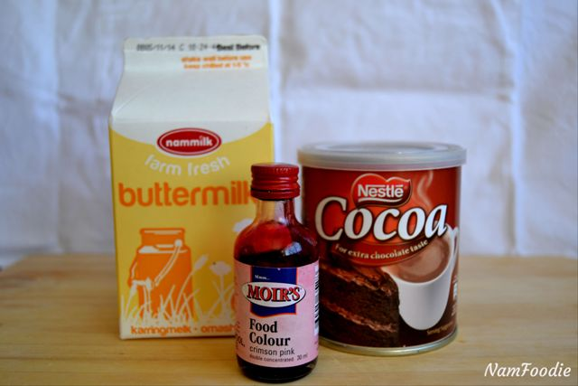 Red velvet cupcakes ingredients