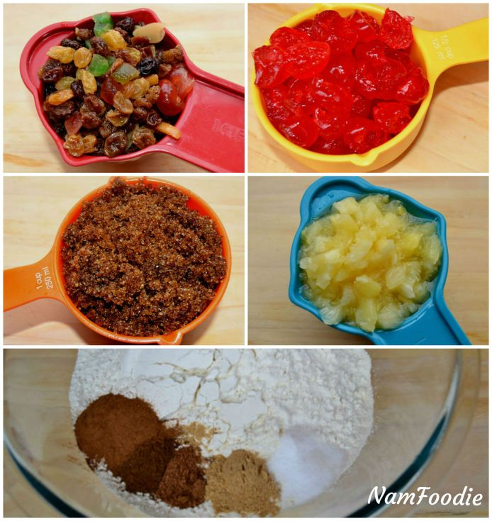 christmas fruit cake ingredients