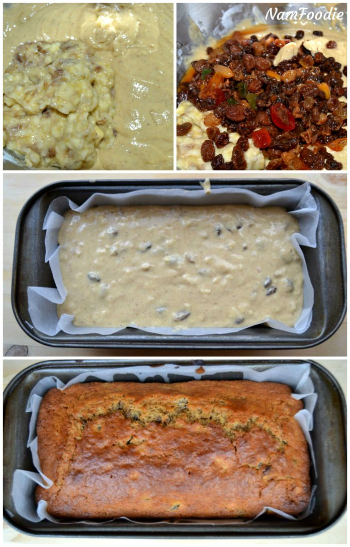 Festive banana bread steps