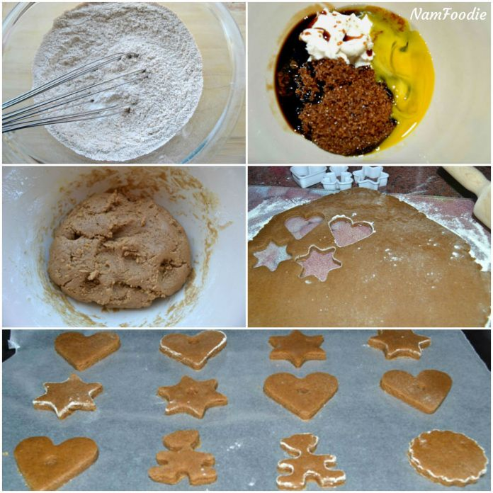 Gingerbread cookies steps