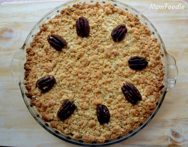 namfoodie festive apple crumble