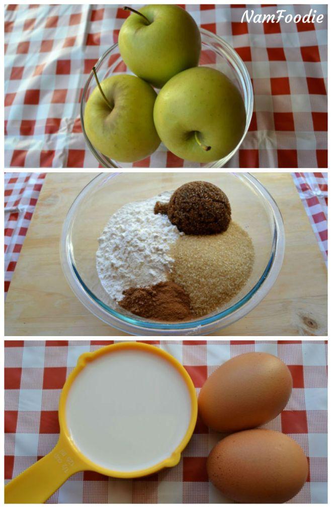 Apple cinnamon Loaf ingredients