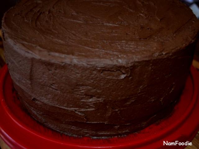 Chocolate cake crop