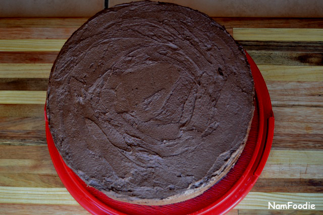 Chocolate cake top