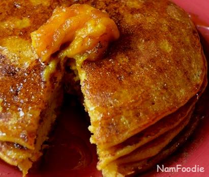 Pumpkin pancakes crop