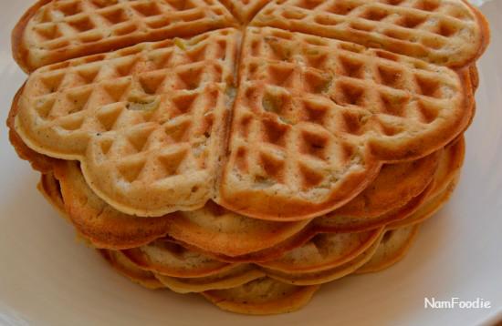 apple waffle side half