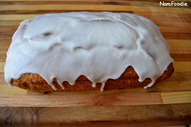 Lemon Blueberry Yogurt Cake glaze