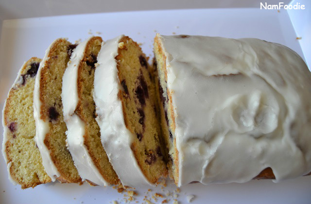 Lemon Blueberry Yogurt Cake slice